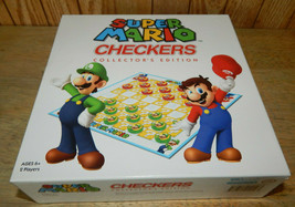 SUPER MARIO CHECKERS Collector's Edition 2 Players Complete Excellent - $11.74