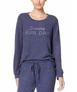 Jennifer Moore Womens Graphic Print Pajama Top Sunday Bunday - $21.99