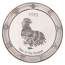 1993 Año Del Gallo .999 Plateado 1 Onza Juegos Redondo Alcachofa Joe's d... - $63.02