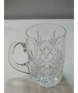 Lenox HAND Cut glass Charleston Crystal fathers day mug Made in USA - $45.82