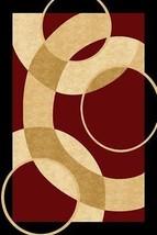 PREMIUM 3D Hand Carved Modern 3x5 4x6 Rug Contemporary 1052 Burgundy - $75.00