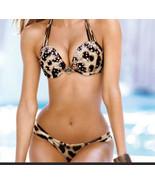 Victorias Secret Bikini Jeweled Bombshell Add 2Cup Halter Knockout Cheek... - $188.10