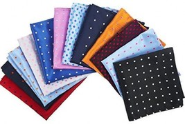 Pangda 12 Pieces Men's Suit Pocket Square Dots Handkerchief Hanky For We... - $42.94