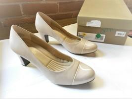 Easy Spirit Esraphael Women's Taupe Leather Chunky Heel Pumps Size 6 - NIB - $29.03