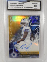 Deontay Greenberry 2015 Topps Platinum 21/99 Gold Auto Rookie GMA Graded Gem 10 - $16.34