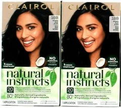 2 Clairol Natural Instincts 1BB Intense Blue Black Hair Color& Shine Conditioner - $18.78