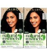 2 Clairol Natural Instincts 1BB Intense Blue Black Hair Color& Shine Con... - $18.78