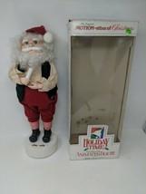 Santa with Candle Christmas Telco Motionette Animated Illuminated VTG Wo... - $29.69