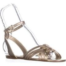 Coach Summers Ankle Strap Slide Sandals, Metallic Tumbles Platinum, 8 US - $61.43