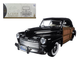 1946 Ford Sportsman Woody Black 1/18 Diecast Model Car by Road Signature - $118.99