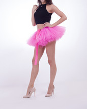 WOMEN MINI TUTU Skirt Drawstring Waist Solid Color Mini Petticoats Ballet Skirts image 8