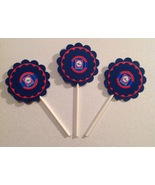 Nba Los Angeles Clippers Cupcake Toppers Party Deco Birthday Blue Handma... - $15.00