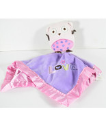 Circo PINK AND PURPLE OWL LOVE Blankie LOVEY SECURITY BLANKET Satin Trim - $19.79
