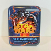 STAR WARS 3D PLAYING CARDS by Cartamundi - Tin - Darth Vader Yoda Grievous - $9.67