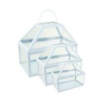 "Northlight 3 Powder Blue Glass Paneled Nesting Outdoor Terrariums 8.25""-12"" - $53.20"