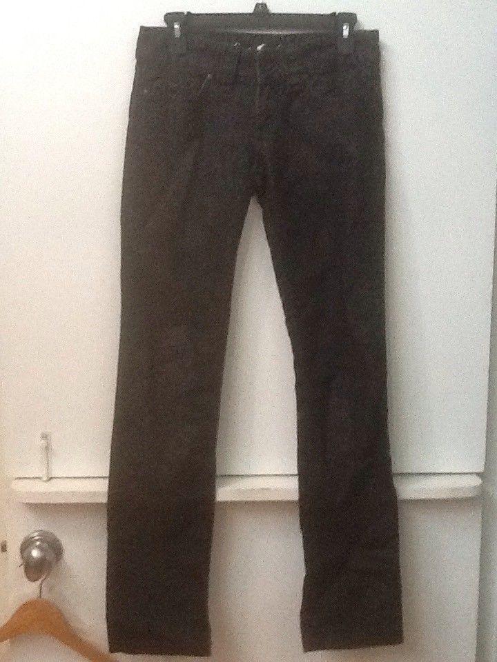 Juicy Couture Women's The Kate Heart Pocket Jeans Black Sparkle Denim Size 26
