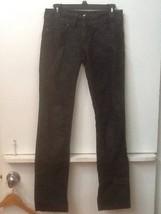 Juicy Couture Women's The Kate Heart Pocket Jeans Black Sparkle Denim Size 26 image 1