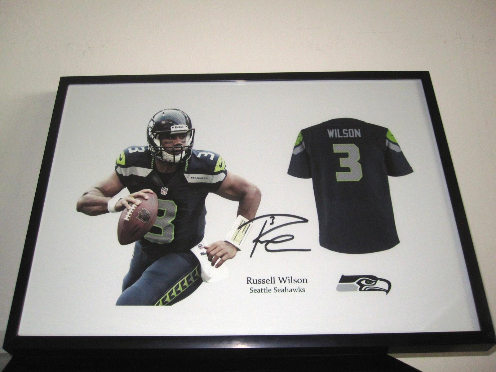 buy popular b429b 58485 NFL Seattle Seahawks Jersey Autogramm Trikot COA Russell Wilson