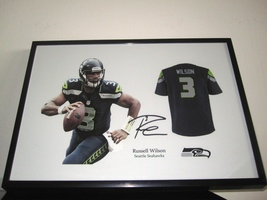Russell Wilson signed Seattle Seahawks NFL - Football Jersey - RP autograph - $19.50