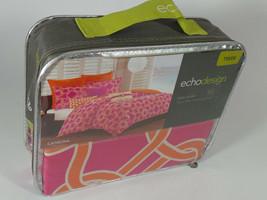 New Echo Design Twin Catalina Duvet Cover Geometric Rose Violet Orange Bed - $55.00