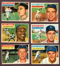 1956 TOPPS BASEBALL CARDS LOT OF  17 w/ ASHBURN, BAUER,KUENN - $89.05