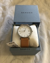 Skagen Men's Hagen Stainless Steel Case With Tan Leather Band SKW6312 - $144.95