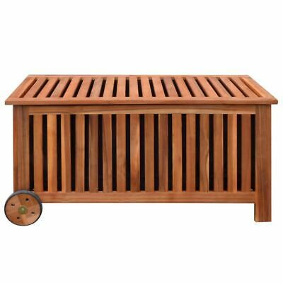 vidaXL Cushion Box Outdoor Storage Bench Garden Wooden Patio Pillow Storage