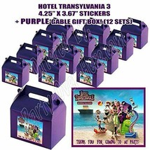 Hotel Transylvania Party Favor Boxes Thank you Decals Stickers Loots 12P... - $24.70