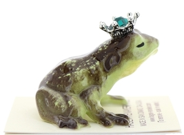 Hagen-Renaker Miniature Frog Prince Kissing Birthstone 05 May Emerald image 2