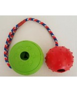 2 Pack Non-Toxic Chew Toy Medium/Large Dog Rubber Ball Toys - $9.00