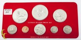 1981 Cayman Islands 8-Coin Protección Conjunto el Franklin Nuevo W/Cabin... - $111.47