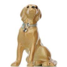 Hagen Renaker Dog Labrador Retriever Sitting Golden Ceramic Figurine image 8