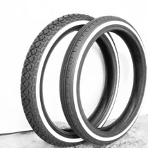 Honda C92 C95 CA92 CA95 CB92 CS92 FR&RR Wheel White Wall Tire New 3.00-16 - $155.00