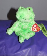 TY Retired Beanie Baby Palms Frog With Rare Code Tag - $13.85