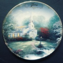 """Limited Edition Collectors Plate 38828 By Thomas Kinkade """"June-Hometown ... - $24.70"""