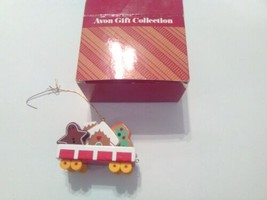 Vintage Avon Gift Collection Wooden Christmas Train Cookie Car Holiday O... - $9.50