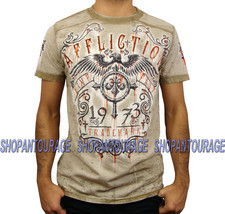 AFFLICTION Condemned A10292 New Men`s T-Shirt Tobacco - $38.21