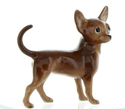 Hagen Renaker Pedigree Dog Chihuahua Large Brown and White Ceramic Figurine image 1
