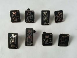 Disney Trading Pins Official Family Black & Silver Hidden Mickey Set of 8 - $22.08