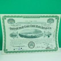 Railroad train company stock bond ephemera certificate Erie Pittsburgh 1... - $28.89