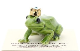 Hagen-Renaker Miniature Ceramic Frog Figurine Birthstone Prince 03 March
