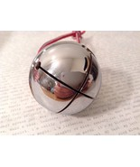 Polar shiny Silver LARGE Santa reindeer  sleigh bell Express from Elf Wo... - $19.79