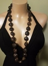 "Hawaiian Jewelry 34"" Strand Brown Large Kukui Nut Bead Necklace - $32.51"