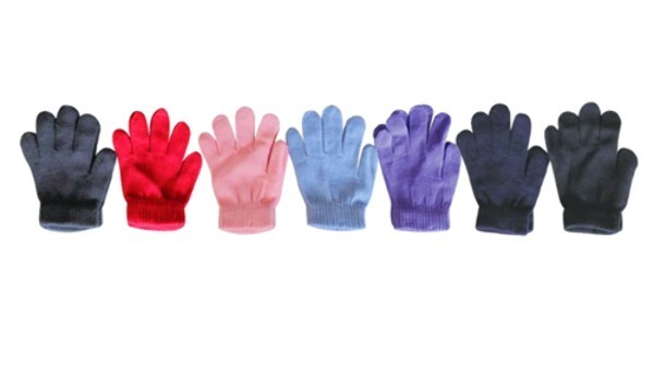Case of [240] Kids' Fleece Magic Gloves - Assorted Colors