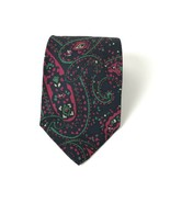 Vintage Polo By Ralph Lauren 100% Silk Tie Mod Colorful Paisley Hand Mad... - $19.79