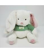 "8"" HALLMARK MY FIRST EASTER BUNNY RABBIT W GREEN SHIRT STUFFED ANIMAL PL... - $27.12"
