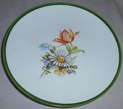 Vintage FORSTENBERG Porcelain Floral Plate WEST GERMANY - $12.86