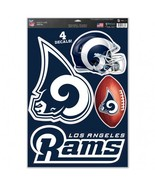 Los Angeles Rams Decal 11x17 Multi Use Cut to Logo 4 Piece Set Special Order**Fr - $18.05