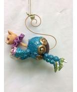 Katherine's Collection Aqua Cat Wobble Head Christmas tree Ornament - $29.99