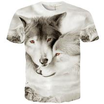 3d T-shirt Animal Wolf Printed Hip Hop Rock Personality Creative Top Quality
